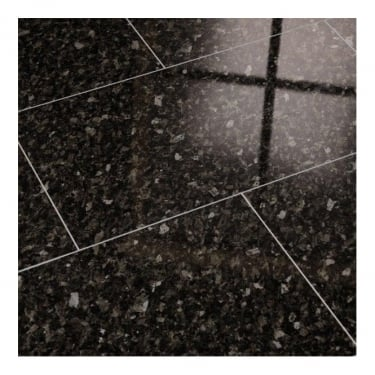 Supergloss Maxi V5 7.7mm Black Pearl Tile High Gloss Laminate Flooring (772606)