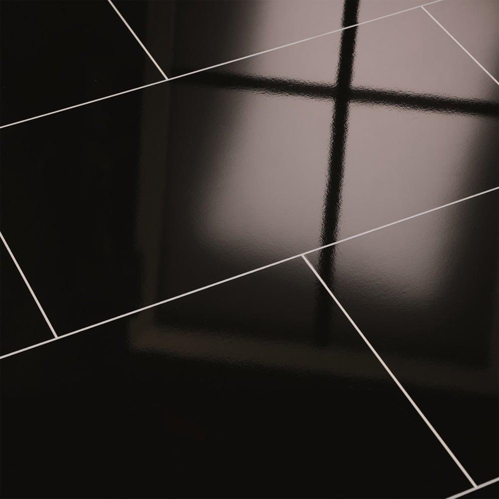 elesgo supergloss maxi v5 black high gloss laminate tile flooring leader floors. Black Bedroom Furniture Sets. Home Design Ideas