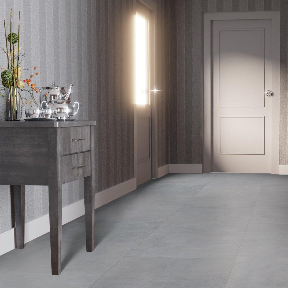 Falquon Flooring Supermatt Max 8mm, Cement Gray Laminate Flooring