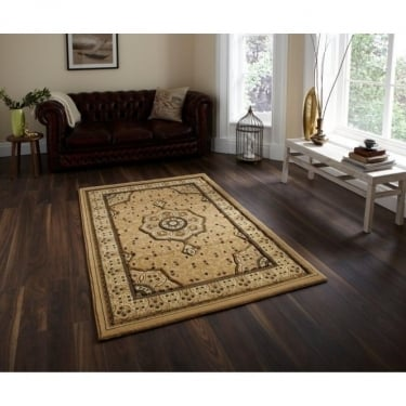 Think Rugs Heritage 4400 Traditional Beige Rug
