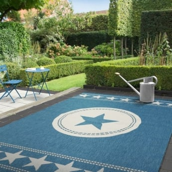 Forever Rugs Verano 48325-033 All Stars Blue Rug