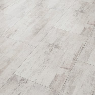 Vision 8mm Vintage White Tile Laminate Flooring (47531)