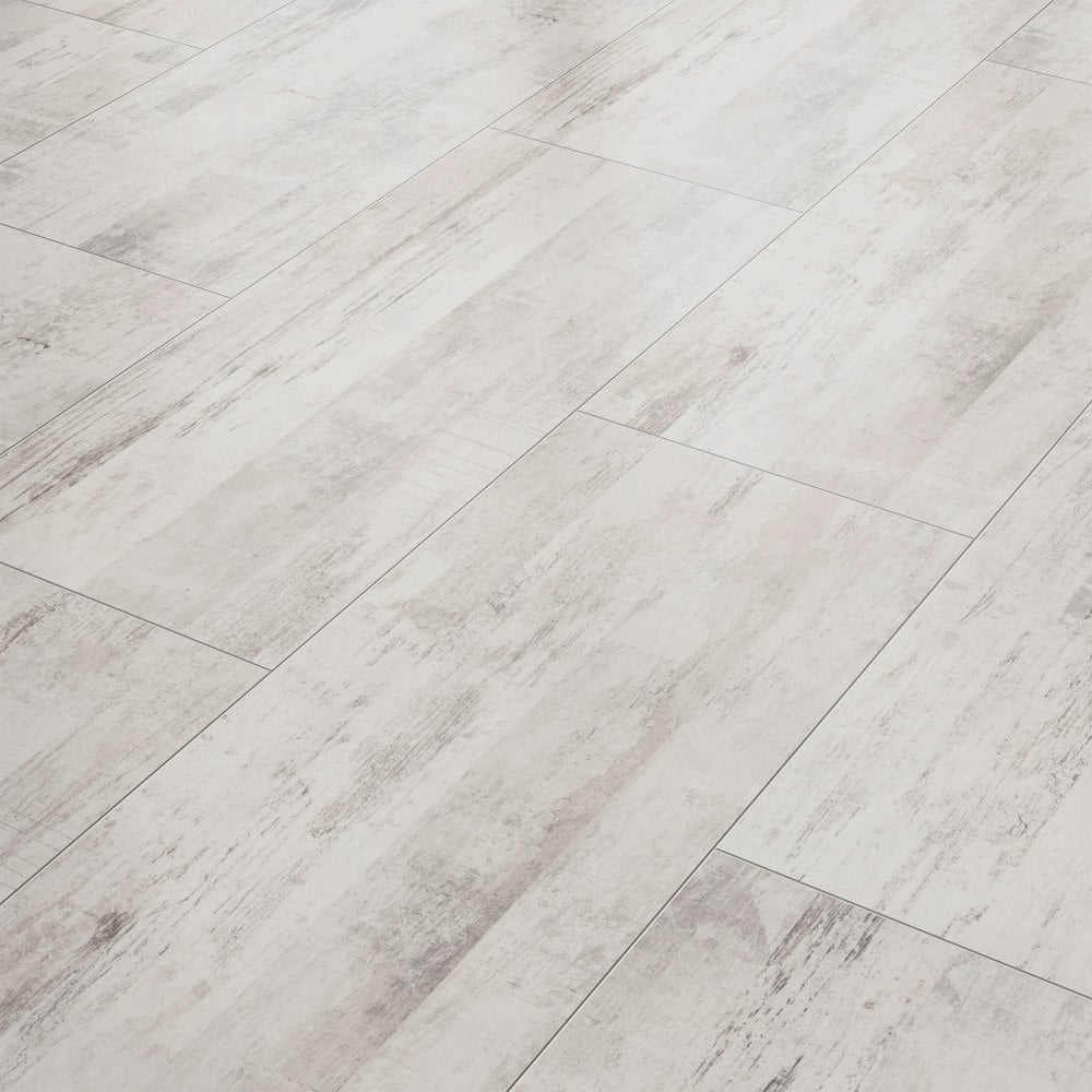 Liberty Vision Vintage White Laminate Tile Flooring Leader Floors