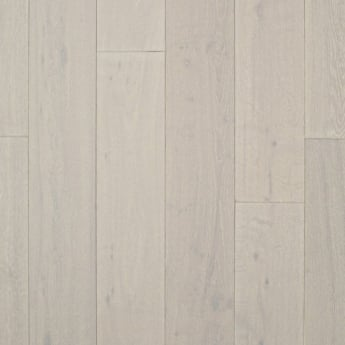 Wood Plus 18x189mm Pure White Brushed & Matt Lacquered Engineered Oak Flooring