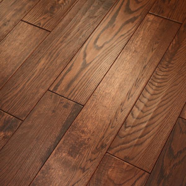 Wood Flooring Classic Flamed Oak 18x150mm Handscraped