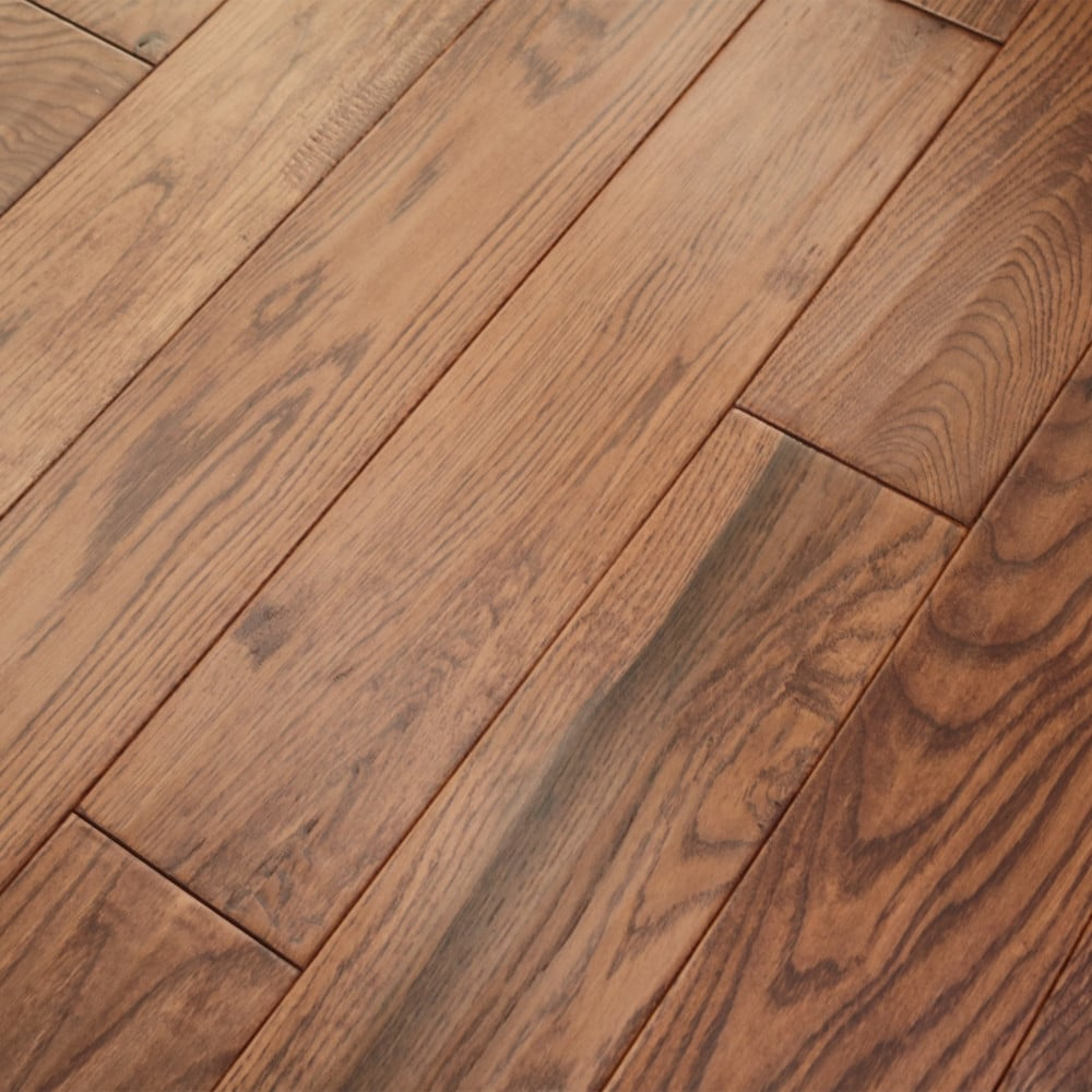 Wood flooring classic sunset stained oak 18x150mm for Solid oak wood flooring
