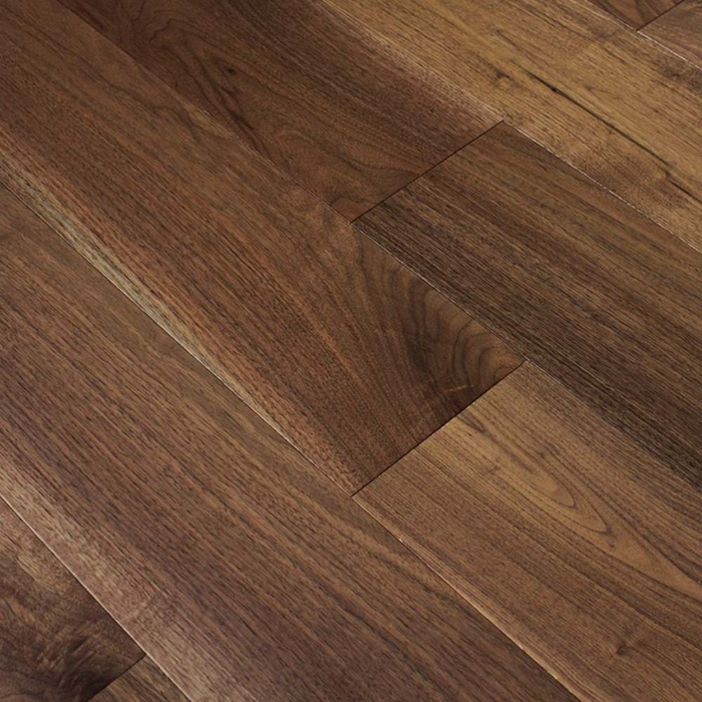 Solid 18mm american black walnut flooring available at for Walnut hardwood flooring