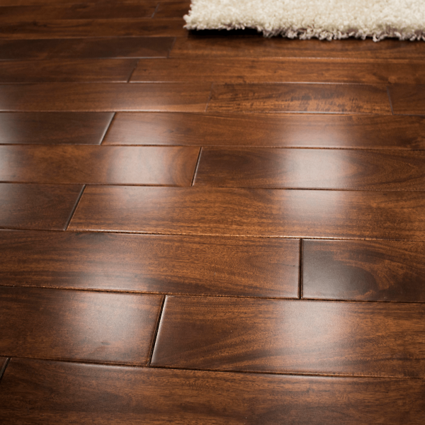 Solid Walnut Flooring: Wood Plus Stained & Lacquered 18x93mm Solid Asian Walnut