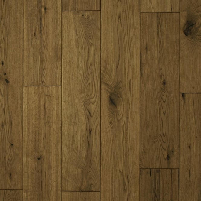 18x150mm Brushed & Matt Lacquered Smoked Oak Engineered Real Wood Flooring (2622)