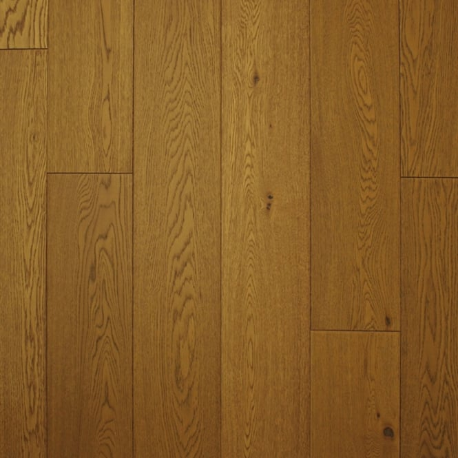 18x189mm Brushed & Matt Lacquered Golden Wheat Oak Engineered Real Wood Flooring (2614)