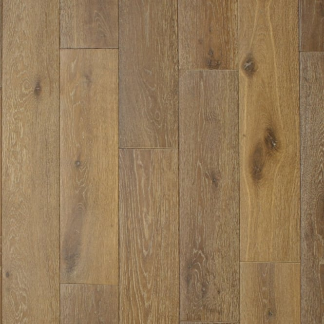 European 20x150mm Smoked & Whitewashed Brushed & Oiled Solid Oak Flooring