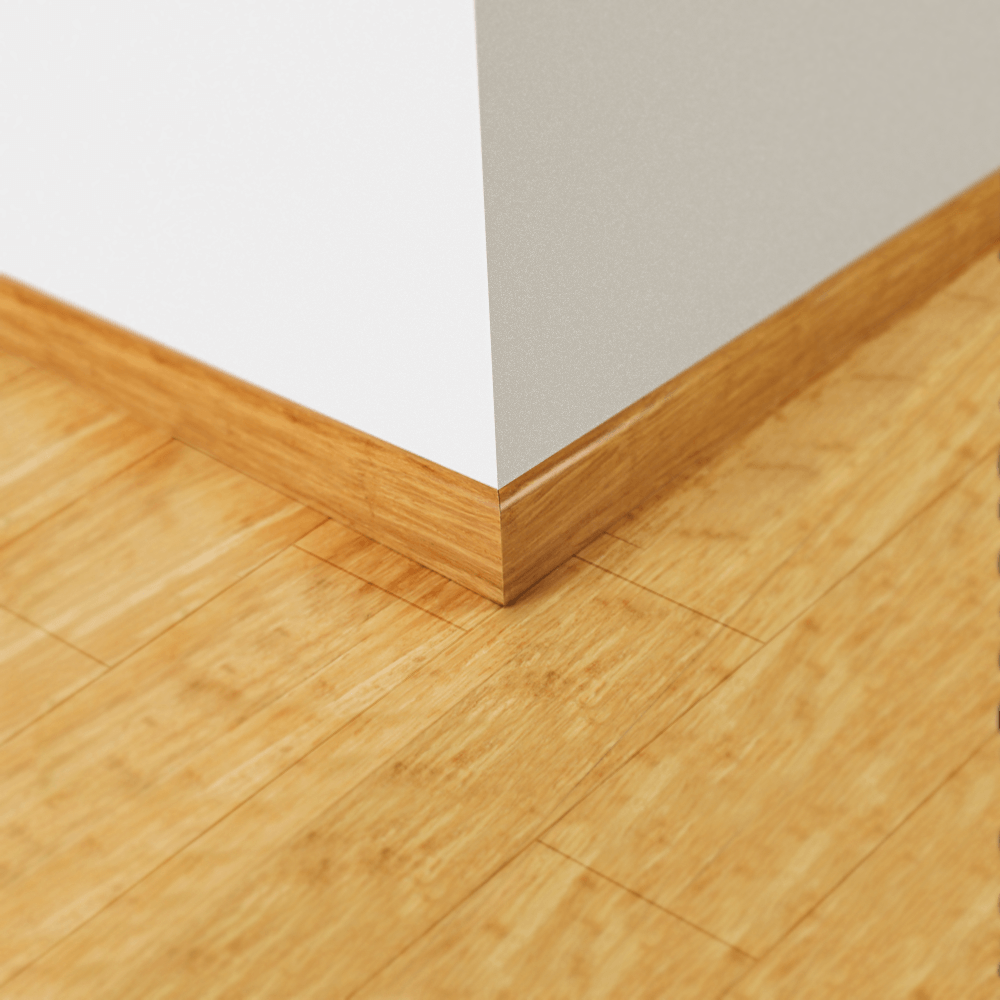 Wood natural strand woven bamboo skirting board leader for Hardwood skirting